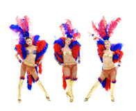 Attractive cabaret trio Royalty Free Stock Images