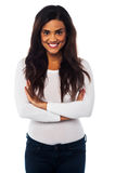 Attractive casual african american girl Royalty Free Stock Photos