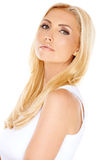 Attractive casual blond woman Stock Image