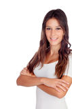 Attractive casual girl with crossed arms Royalty Free Stock Photo