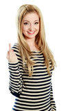 attractive caucasian blond in 30 years old Royalty Free Stock Photography