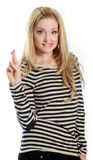attractive caucasian blond in 30 years old Stock Images
