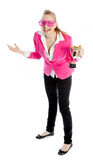 Attractive caucasian blond in 30 years old Royalty Free Stock Images
