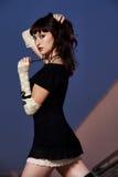 Attractive caucasian brunette woman Stock Images