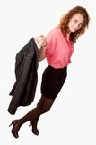 Attractive caucasian brunette woman Stock Photos