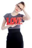 Attractive caucasian girl in her 30 shot in studio Royalty Free Stock Images