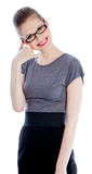 Attractive caucasian girl in her 30 shot in studio Royalty Free Stock Photo