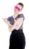 Attractive caucasian girl in her 30 shot in studio Stock Images