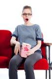 Attractive caucasian girl in her 30 shot in studio Stock Photography