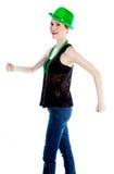 Attractive caucasian girl in her 30 shot in studio Royalty Free Stock Image