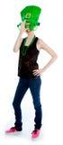 Attractive caucasian girl in her 30 shot in studio Stock Image