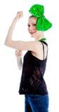 Attractive caucasian girl in her 30 shot in studio Royalty Free Stock Photos