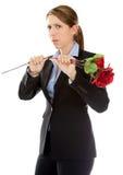 Attractive caucasian girl in studio Stock Images
