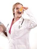 Attractive caucasian nurse doctor Royalty Free Stock Image