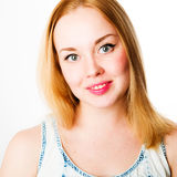 Attractive caucasian smiling woman blond Stock Images