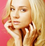 Attractive caucasian smiling woman blond Royalty Free Stock Photography