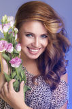 Attractive caucasian smiling woman Royalty Free Stock Photos