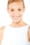 An attractive caucasian woman Stock Photos