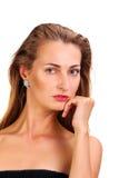 Attractive caucasian woman close up portrait Stock Photos