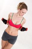 Attractive caucasian woman exercise for fitness Royalty Free Stock Photos