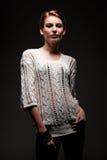 Attractive caucasian woman posing Royalty Free Stock Photos