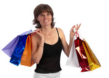 Attractive caucasian woman shopping Royalty Free Stock Image