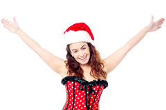 Attractive cheerful woman having fun Royalty Free Stock Photography