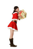 Attractive christmas girl Royalty Free Stock Images