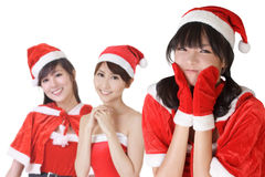 Attractive Christmas girls royalty free stock image