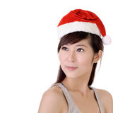 Attractive Christmas lady Royalty Free Stock Photo