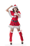 Attractive Christmas lady Stock Photo