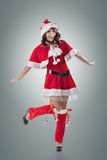 Attractive Christmas lady Stock Image