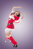 Attractive Christmas lady Stock Photography