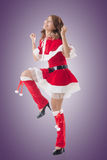 Attractive Christmas lady Stock Photos