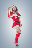 Attractive Christmas lady Royalty Free Stock Photos