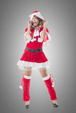 Attractive Christmas lady Royalty Free Stock Photography