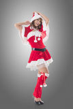 Attractive Christmas lady Royalty Free Stock Images