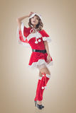 Attractive Christmas lady Stock Images