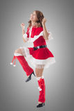 Attractive Christmas lady Royalty Free Stock Image
