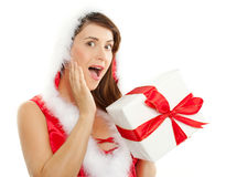 Attractive christmas woman Royalty Free Stock Photos