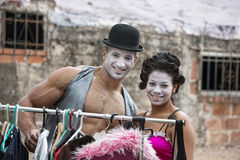 Attractive Cirque Clowns Stock Images