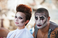 Attractive Cirque Performers Royalty Free Stock Images