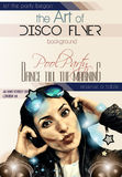 Attractive Club Disco Flyer with a Girl Dj listening to music Stock Images