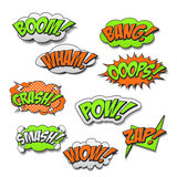 Attractive colorful comic sound effects set Stock Photos