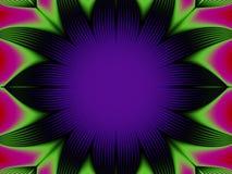 Dark kaleidoscope bloom stock illustration