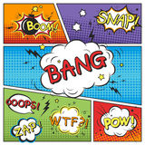 Attractive comic sound effect set Stock Photography