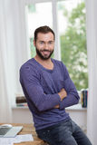 Attractive confident bearded man Royalty Free Stock Photos