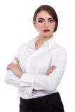 Attractive Confident businesswoman with her arms crossed - Stock Image Royalty Free Stock Photo