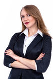 Attractive Confident businesswoman with her arms crossed - Stock Image Stock Photography