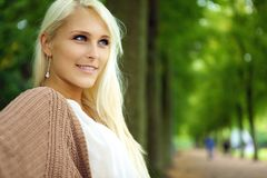 Attractive Confident Self-assured Blonde Woman Royalty Free Stock Photography